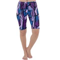 Purple decorative abstract art Cropped Leggings