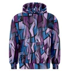 Purple decorative abstract art Men s Zipper Hoodie