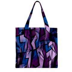 Purple decorative abstract art Zipper Grocery Tote Bag