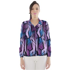 Purple decorative abstract art Wind Breaker (Women)