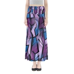 Purple decorative abstract art Maxi Skirts