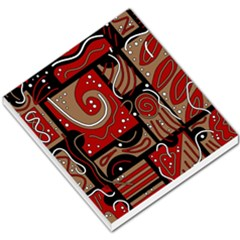 Red and brown abstraction Small Memo Pads