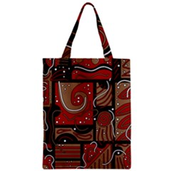 Red and brown abstraction Classic Tote Bag