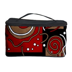 Red and brown abstraction Cosmetic Storage Case