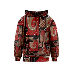 Red and brown abstraction Kids  Zipper Hoodie