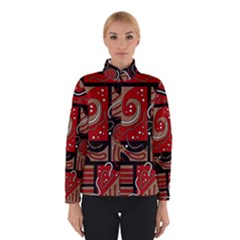 Red and brown abstraction Winterwear