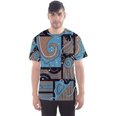 Blue and brown abstraction Men s Sport Mesh Tee