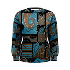 Blue and brown abstraction Women s Sweatshirt