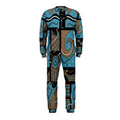Blue and brown abstraction OnePiece Jumpsuit (Kids)