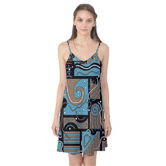 Blue and brown abstraction Camis Nightgown
