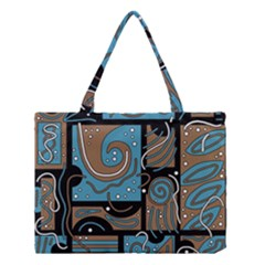 Blue and brown abstraction Medium Tote Bag