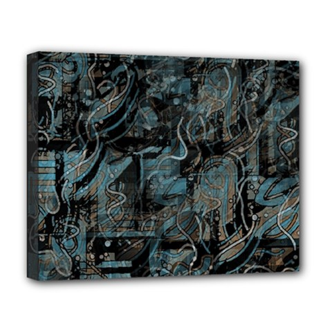 Blue town Deluxe Canvas 20  x 16