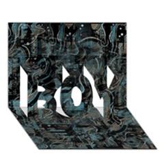 Blue town BOY 3D Greeting Card (7x5)
