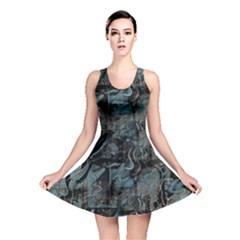 Blue town Reversible Skater Dress