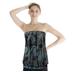 Blue town Strapless Top
