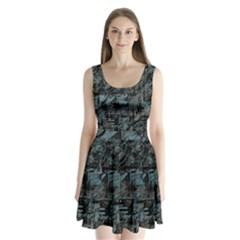 Blue town Split Back Mini Dress