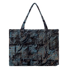Blue Town Medium Tote Bag