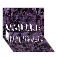 Purple town YOU ARE INVITED 3D Greeting Card (7x5)