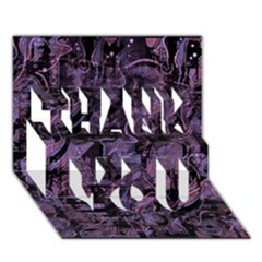 Purple town THANK YOU 3D Greeting Card (7x5)