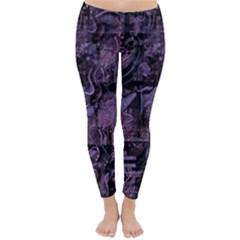 Purple town Winter Leggings