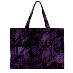 Purple town Zipper Mini Tote Bag