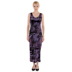 Purple town Fitted Maxi Dress