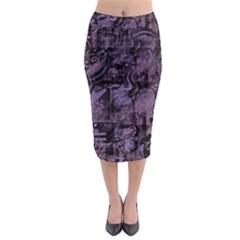 Purple Town Midi Pencil Skirt