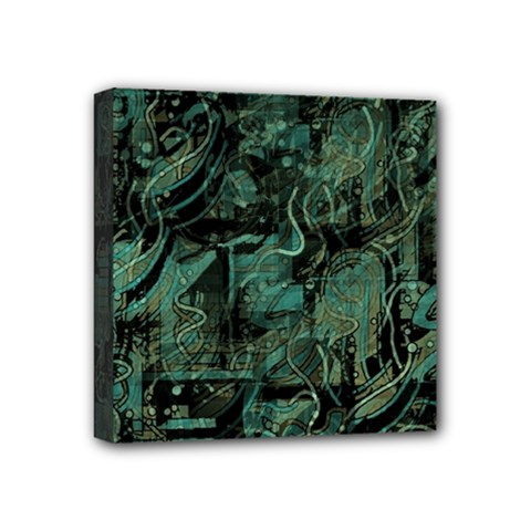 Green town Mini Canvas 4  x 4