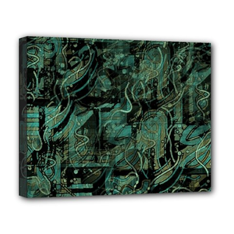 Green town Deluxe Canvas 20  x 16