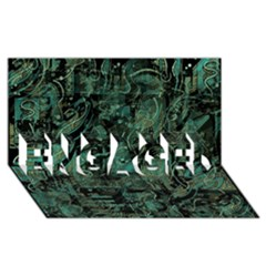 Green town ENGAGED 3D Greeting Card (8x4)