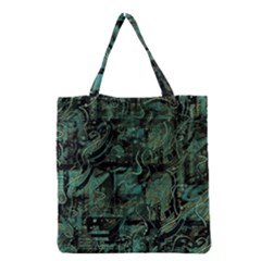 Green town Grocery Tote Bag