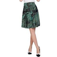 Green town A-Line Skirt