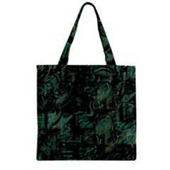 Green town Zipper Grocery Tote Bag