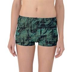 Green town Reversible Boyleg Bikini Bottoms