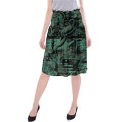 Green town Midi Beach Skirt