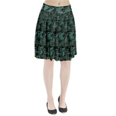 Green town Pleated Skirt