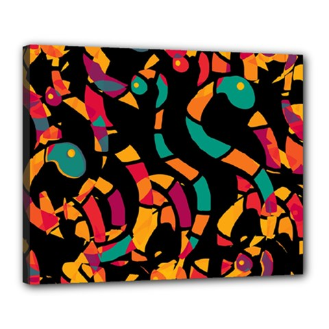 Colorful snakes Canvas 20  x 16