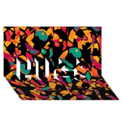 Colorful snakes HUGS 3D Greeting Card (8x4)