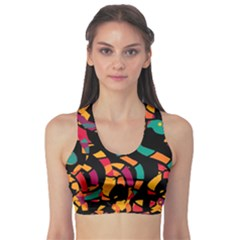Colorful snakes Sports Bra