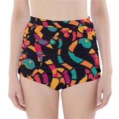 Colorful snakes High-Waisted Bikini Bottoms