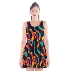 Colorful snakes Scoop Neck Skater Dress
