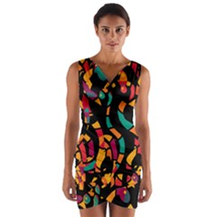 Colorful snakes Wrap Front Bodycon Dress