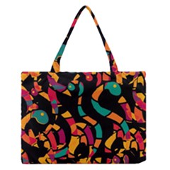 Colorful snakes Medium Zipper Tote Bag