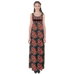 Hsp On Black Empire Waist Maxi Dress