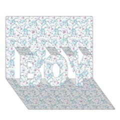 Intricate Floral Collage  Boy 3d Greeting Card (7x5)
