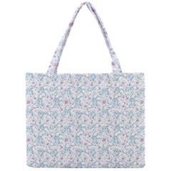 Intricate Floral Collage  Mini Tote Bag