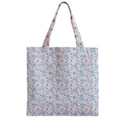 Intricate Floral Collage  Zipper Grocery Tote Bag