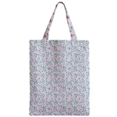 Intricate Floral Collage  Zipper Classic Tote Bag