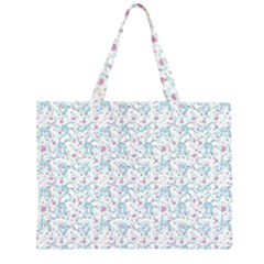 Intricate Floral Collage  Large Tote Bag