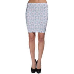 Intricate Floral Collage  Bodycon Skirt